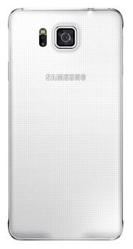 Originální zadní kryt na Samsung Galaxy Alpha EF-OG850S bílé