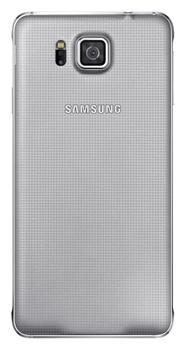 Originální zadní kryt na Samsung Galaxy Alpha EF-OG850S stříbrné