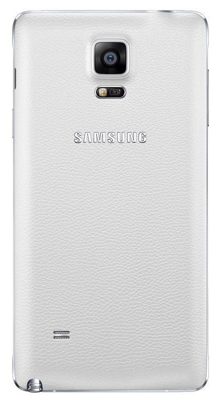 Originální zadní kryt na Samsung Galaxy Note 4 EF-ON910S bílé