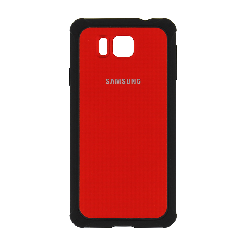 Originální zadní kryt na Samsung Galaxy Alpha EF-PG850BRE červené
