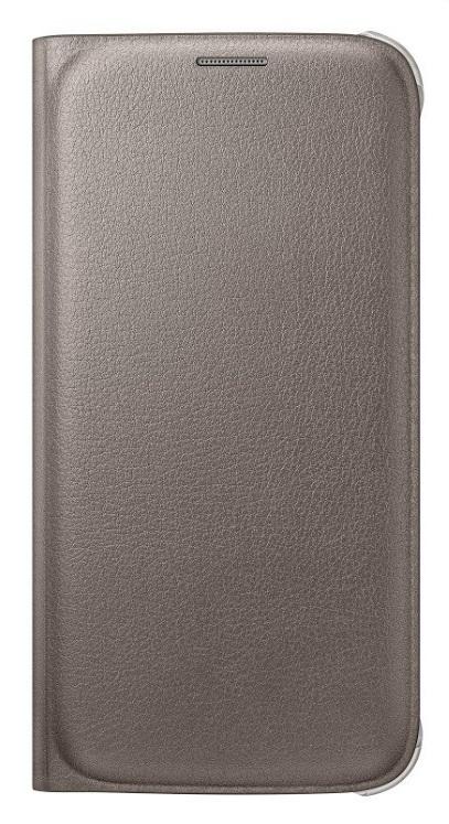 Originální pouzdro s kapsou na Samsung Galaxy S6 EF-WG920P zlaté