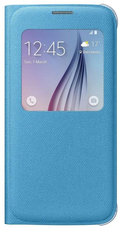 Originální pouzdro na Samsung Galaxy S6 EF-CG920BL S-View modré