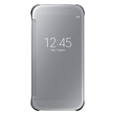 Originální pouzdro na Samsung Galaxy S6 EF-ZG920BSE stříbrné