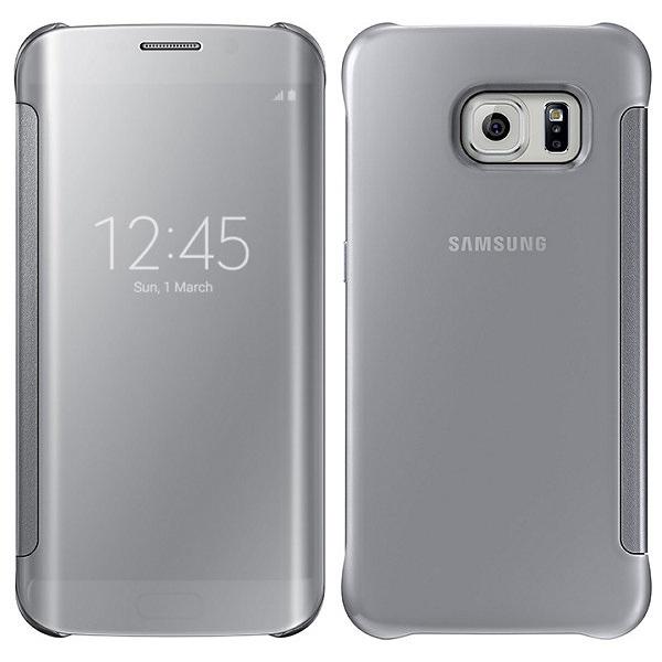 Originální pouzdro na Samsung Galaxy S6 Edge EF-ZG925BSE stříbrné