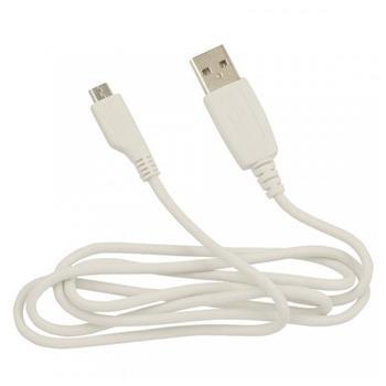 Datový kabel Fontastic microUSB 1m bílý