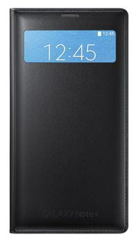 Originální pouzdro s kapsou na Samsung Galaxy Note4 S-view EF-EN910FK černé