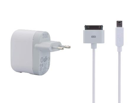 BELKIN USB nabíječka + kabel pro iPhone/iPod,1xUSB,bílá