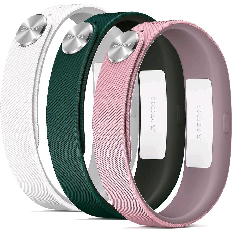 Náhradní řemínky pro Sony SWR110 SmartBand vel. L, zelený, růžový, bílý