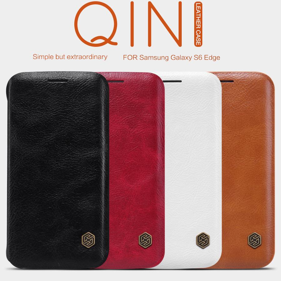Pouzdro Nillkin Qin Book na Samsung Galaxy S6 G928 Edge+ červené