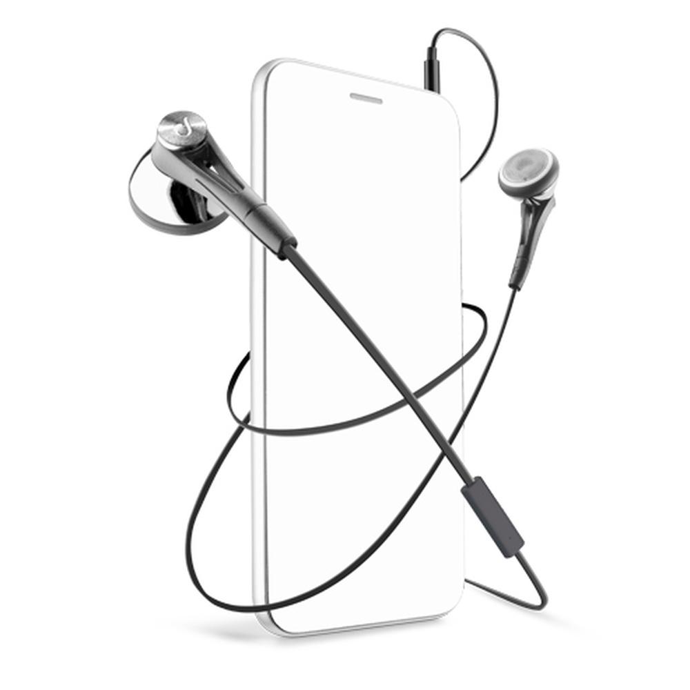 In-ear sluchátka CellularLine FIREFLY s mikrofonem, 3,5 mm jack, černé