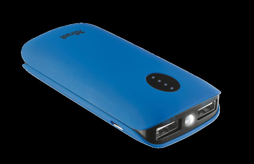 TRUST Leon PowerBank 5200mAh modrá