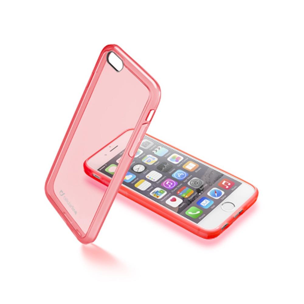 Průhledný zadní kryt CellularLine Color na iPhone 6, růžový