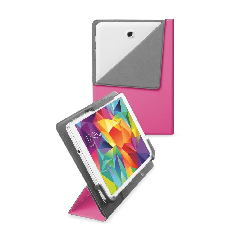 """Pouzdro CellularLine FLEXY pro tablety Samsung do velikosti 8,4"""", růžové"""