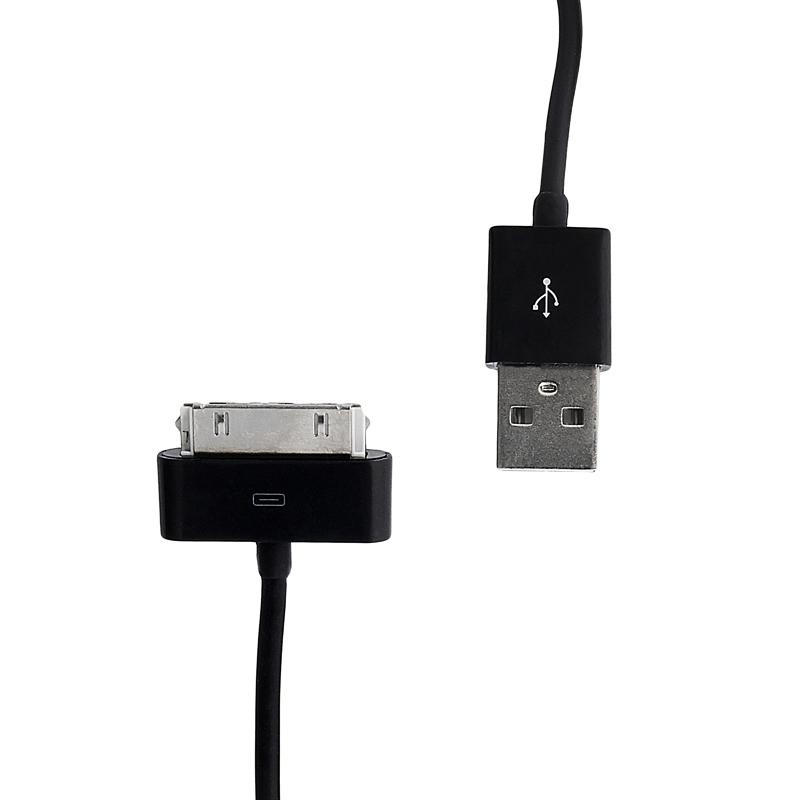 Datový kabel WHITENERGY pro Apple iPhone 4 30cm černý