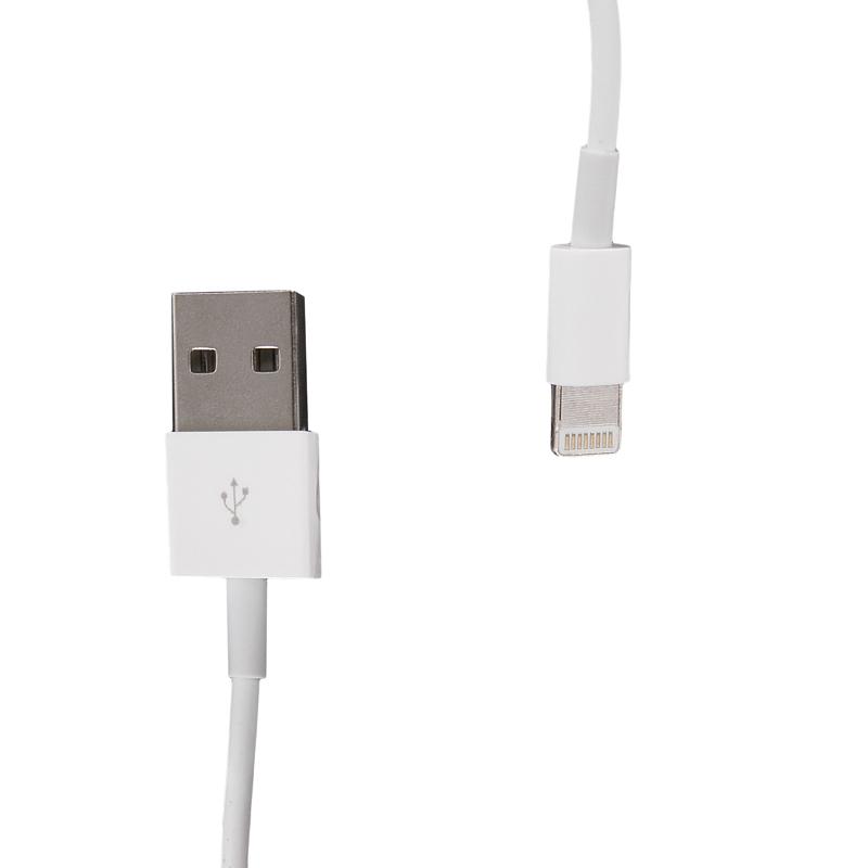 Datový kabel WHITENERGY pro Apple iPhone 5 1m bílý