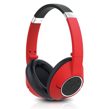 Sluchátka s mikrofonem GENIUS HS-930BT bluetooth červené