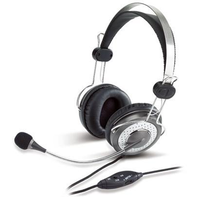 Sluchátka Genius HS-04SU volume control černo-bílé