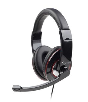 Sluchátka Gembird MHS-U-001 USB černé