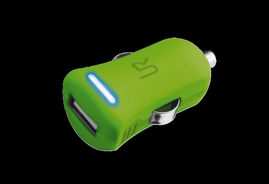 nabíječka TRUST Smartphone Car Charger - lime