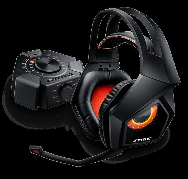 Stylová sluchátka ASUS STRIX 7.1 + Echelon Pad Gaming černé