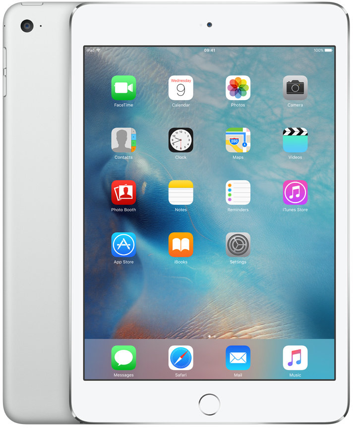 Apple iPad Mini 4 Wi-Fi 128GB Silver, MK9P2FD/A