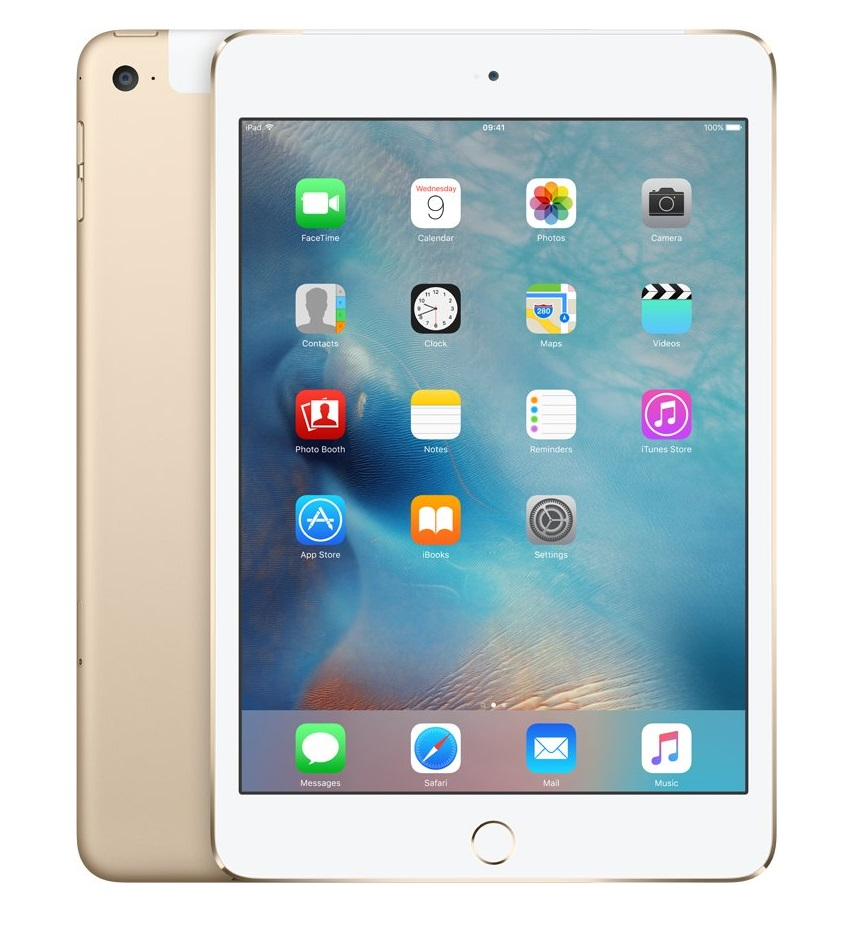 Apple iPad mini 4 Wi-Fi 128GB Cellular Gold, MK782FD/A