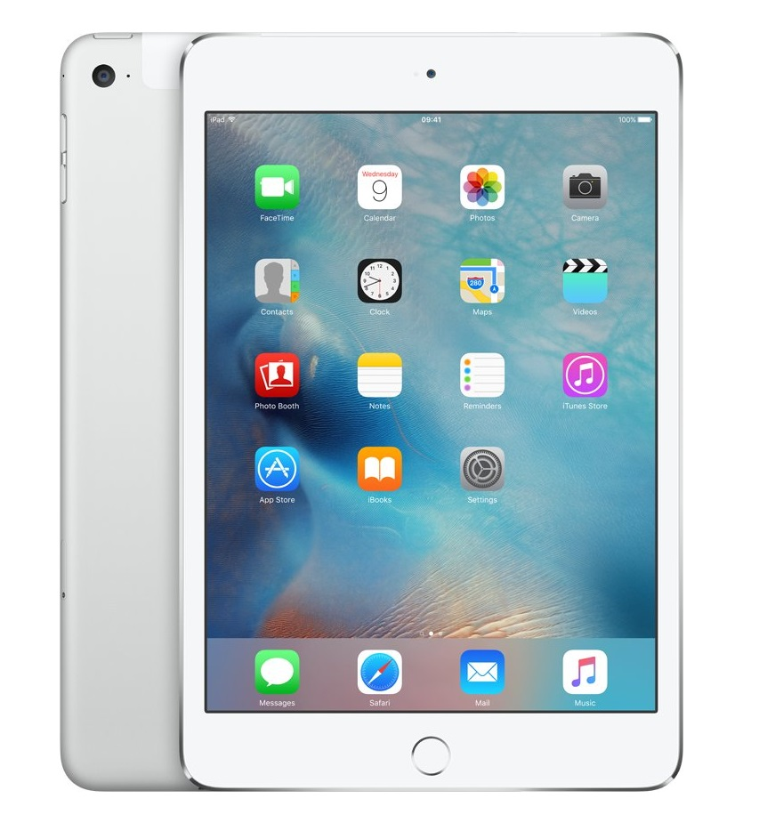 Apple iPad mini 4 Wi-Fi 128GB Cellular Silver, MK772FD/A