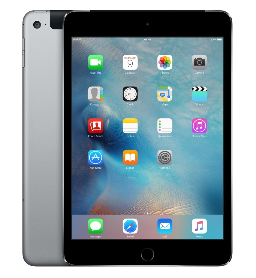 Apple iPad mini 4 Wi-Fi 128GB Cellular Space Gray, MK762FD/A
