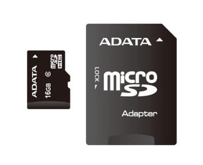 ADATA MicroSD (SDHC) karta 16GB Card with Adaptor Class 10