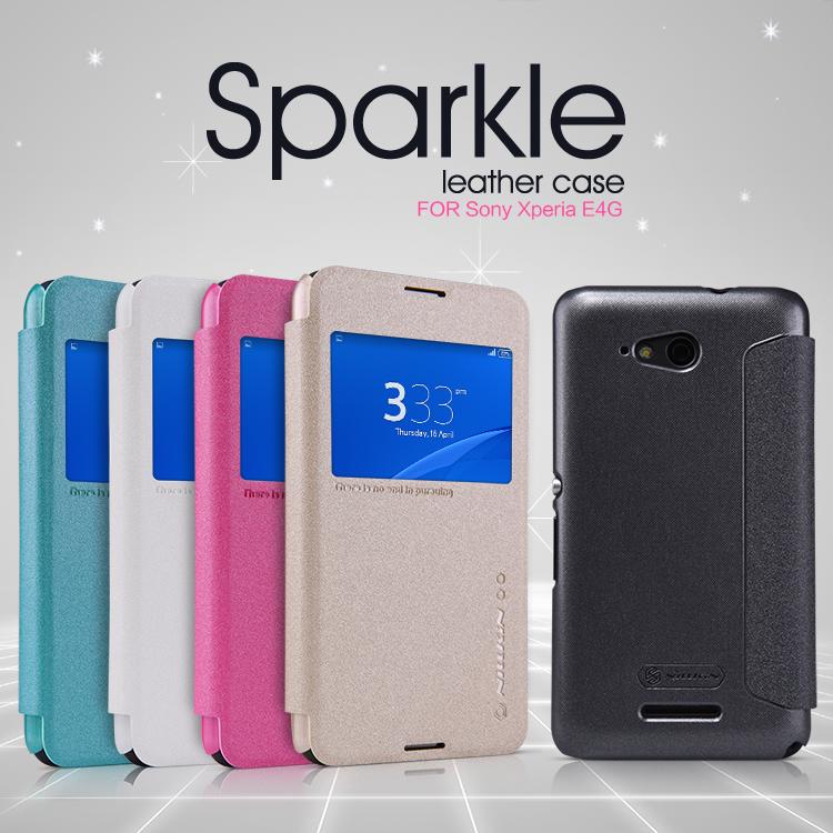 Flipové pouzdro Nillkin Sparkle S-View pro Sony Xperia E4g bílé
