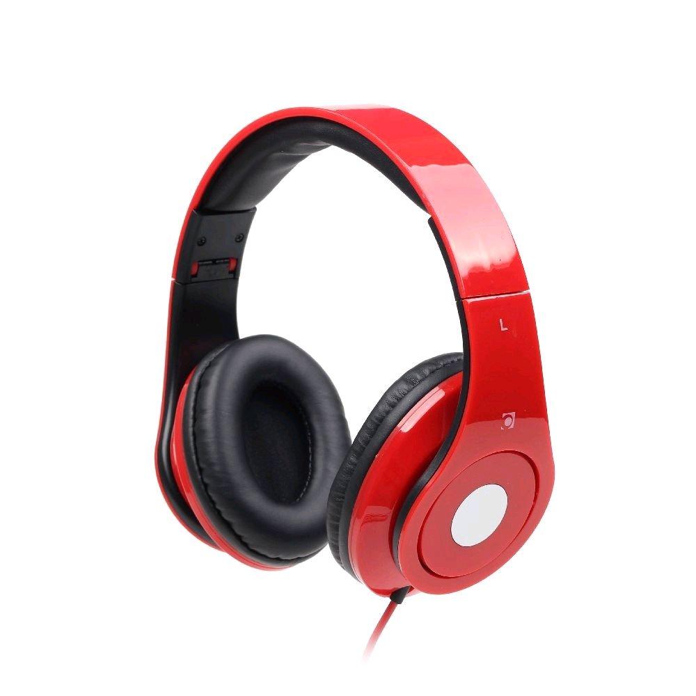 Sluchátka Gembird s mikrofonem DETROIT červené
