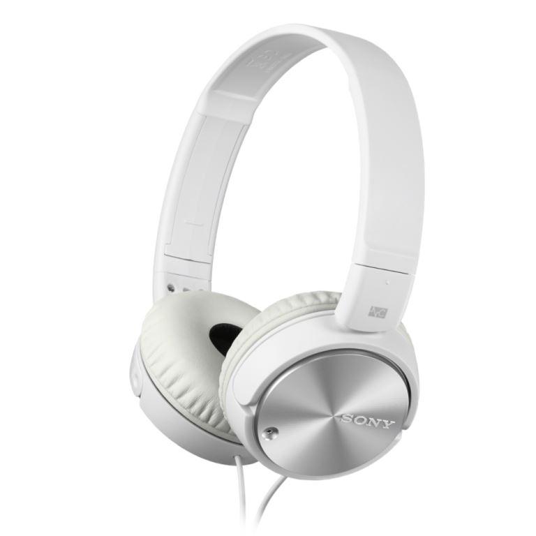 Sluchátka SONY MDR-ZX110 s Noise canceling bílé