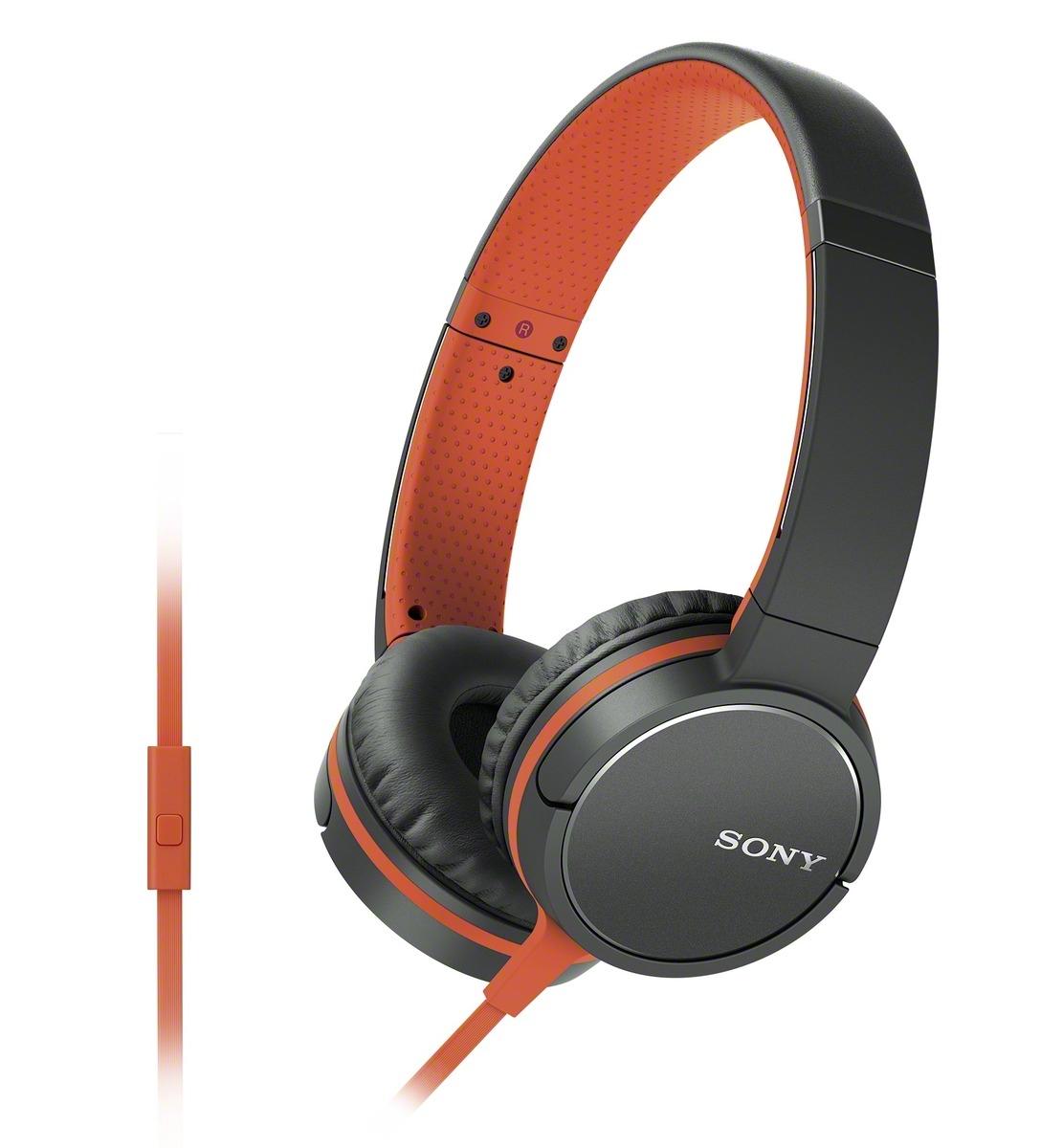 Sluchátka SONY MDR-ZX660AP handsfree oranžové