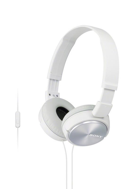 Sluchátka SONY MDR-ZX310AP handsfree bílé