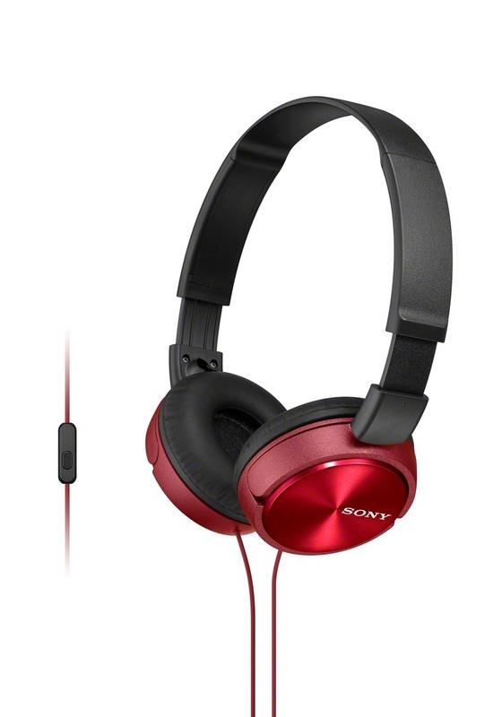 Sluchátka SONY MDR-ZX310AP handsfree červené