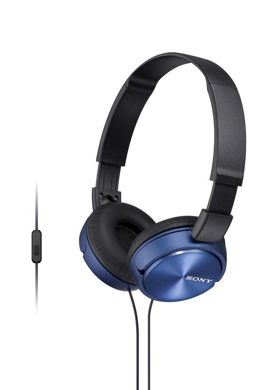 Sluchátka SONY MDR-ZX310AP handsfree modré