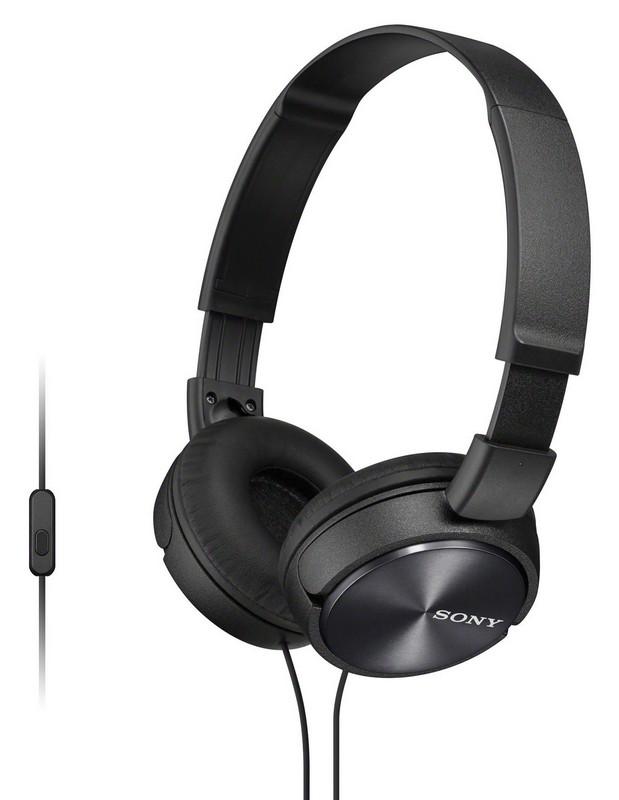 Sluchátka SONY MDR-ZX310AP 30mm s mostem černé