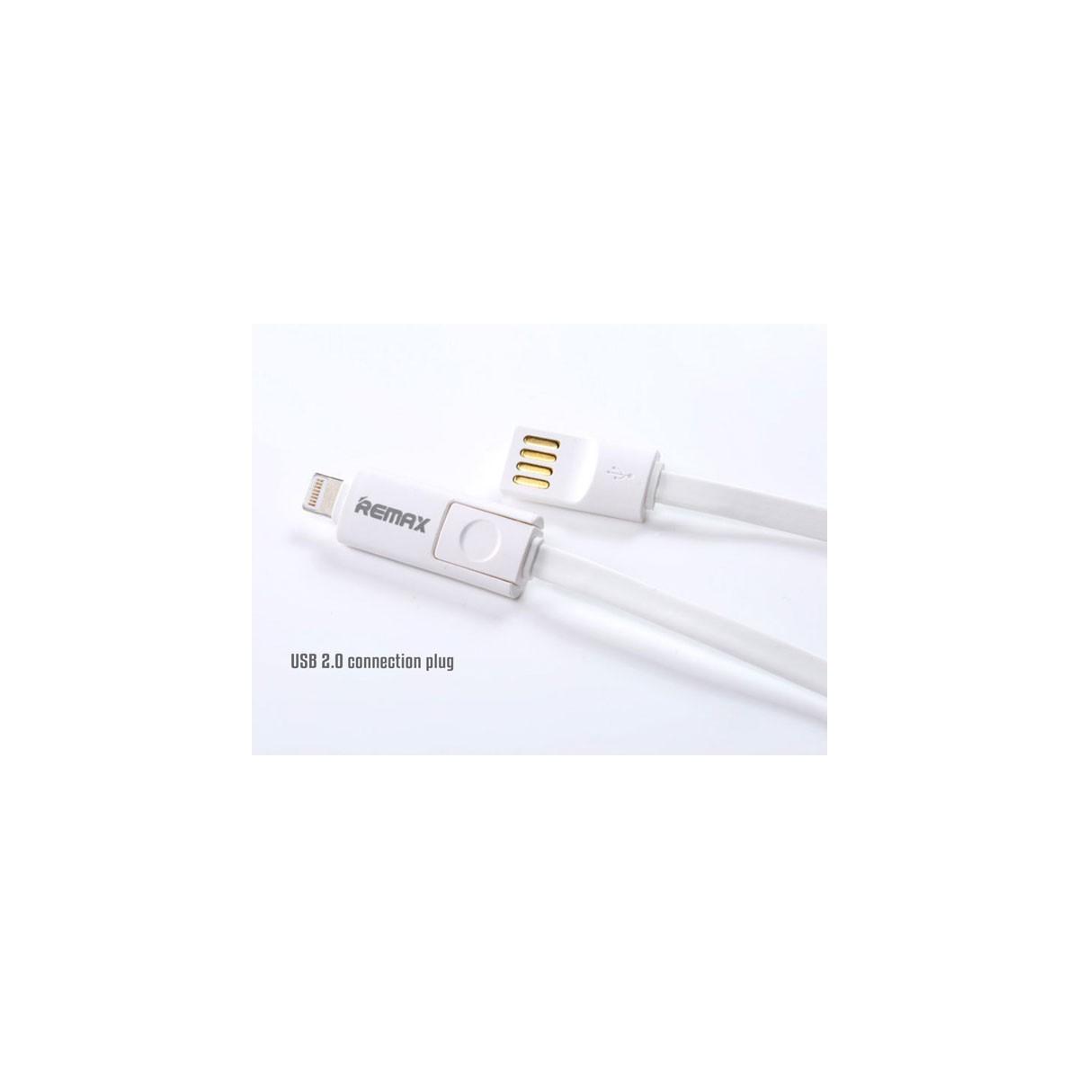 Datový kabel Remax pro iPhone 5/6+microUSB 1,2m bílý