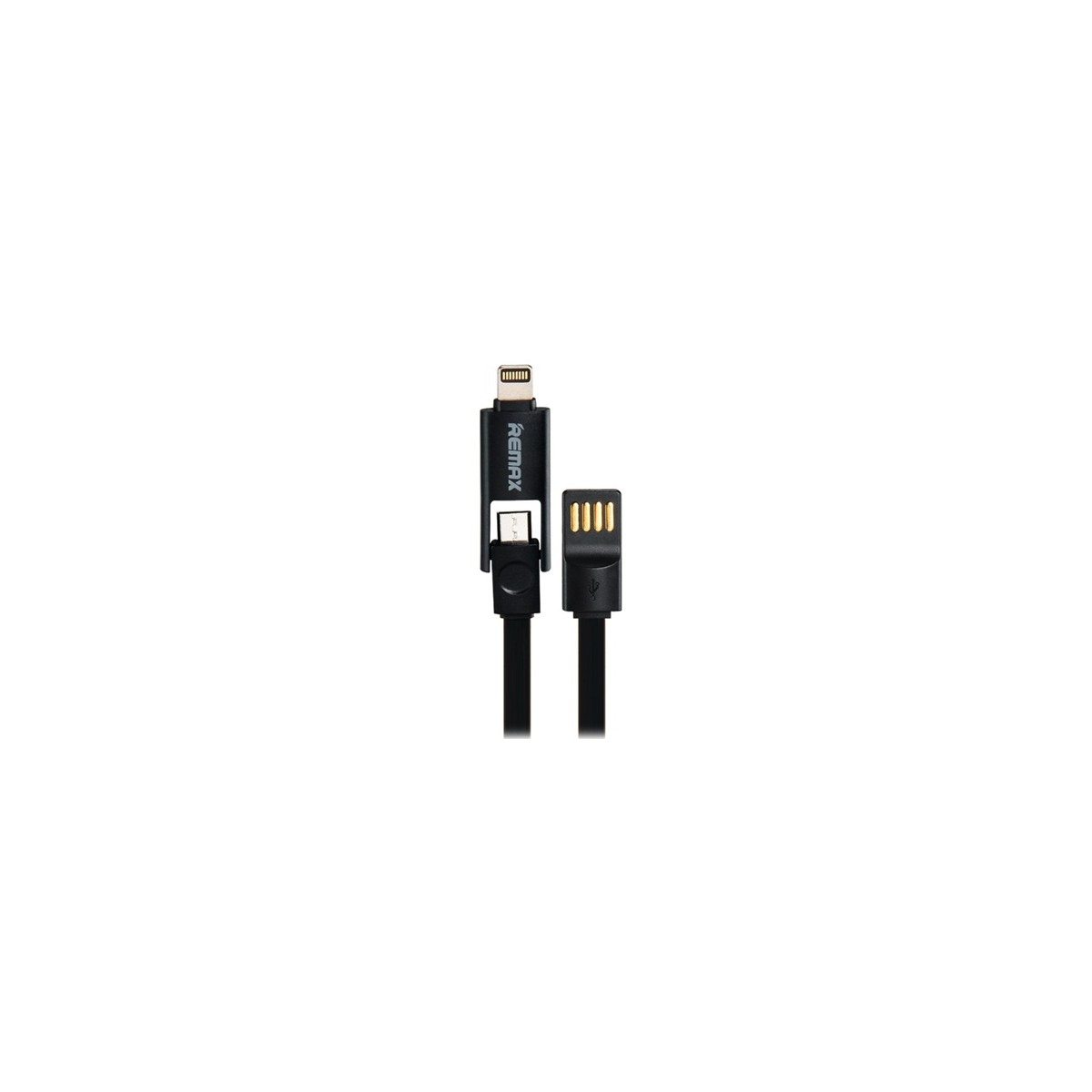 Datový kabel Remax pro iPhone 5/6+microUSB 1,2m černý