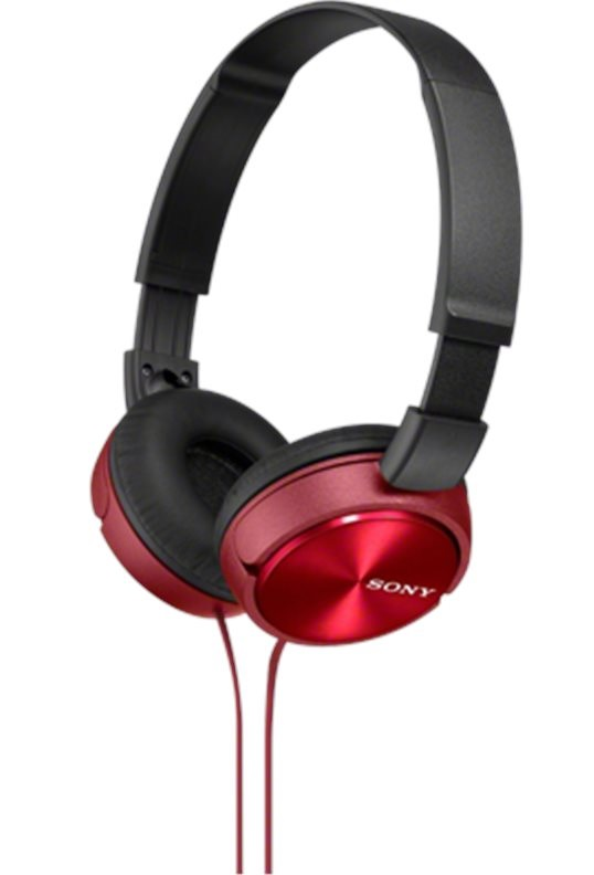 Sluchátka SONY MDR-ZX310 červené