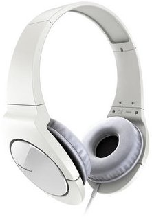 Stylová sluchátka Pioneer bílé