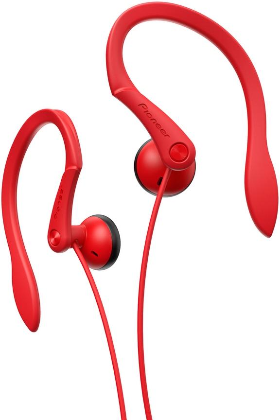 Sportovní závěsná sluchátka Pioneer červené