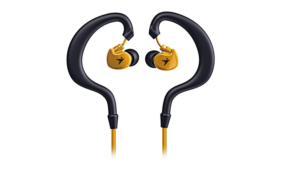 Sporotvní sluchátka Genius HS-M270 oranžové