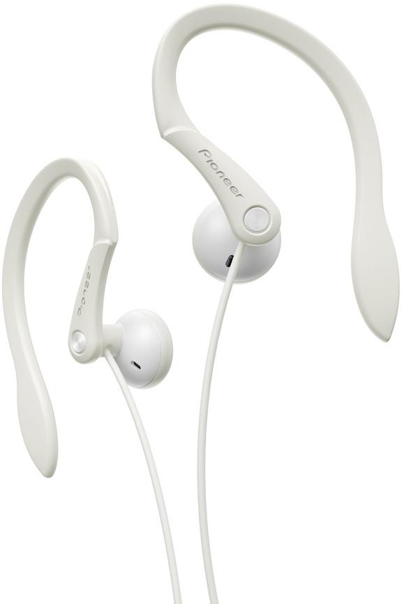 Sportovní závěsná sluchátka Pioneer bílé