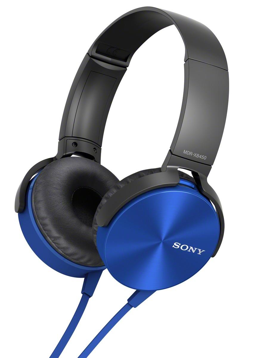 Sluchátka SONY MDR-XB450AP handsfree modré