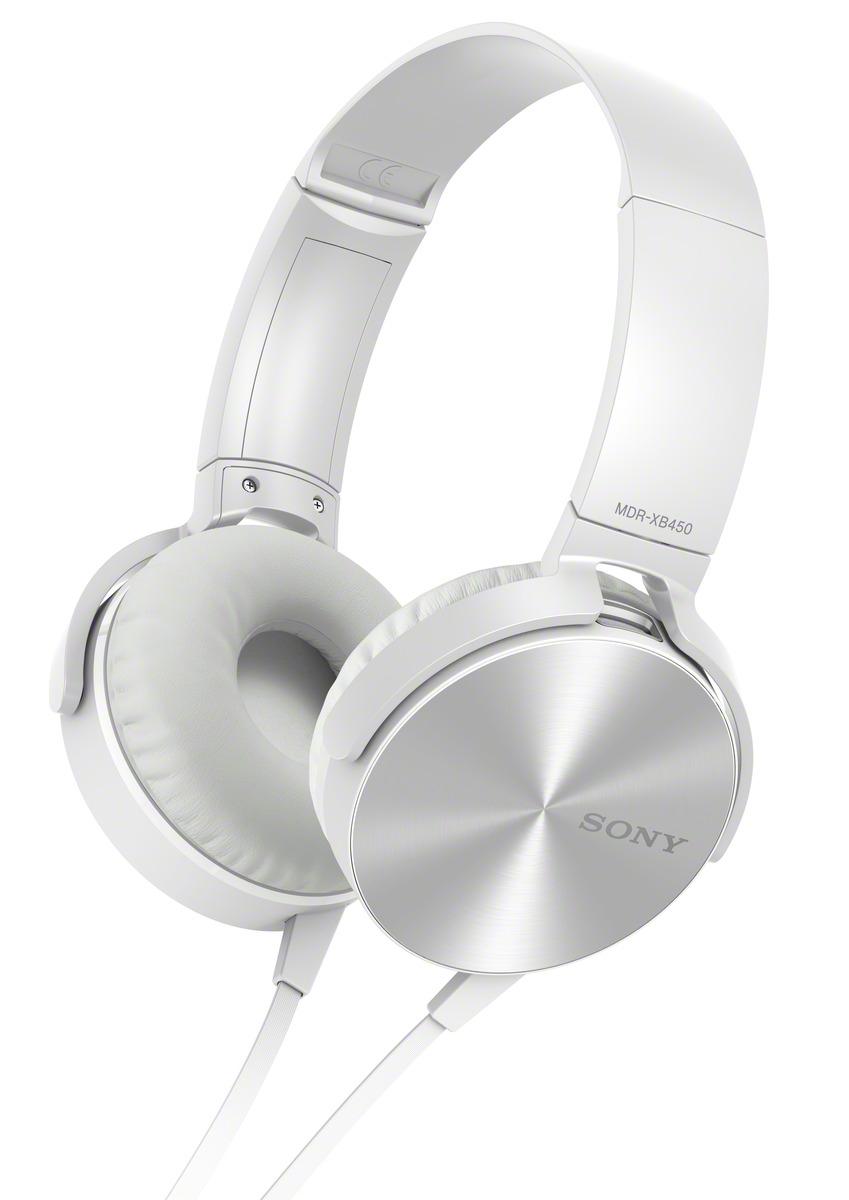 Sluchátka SONY MDR-XB450AP handsfree bílé