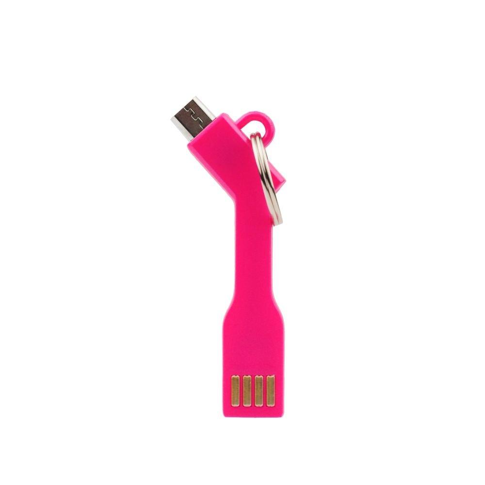 Datový kabel microUSB a přívěsek OEM růžový (bulk)