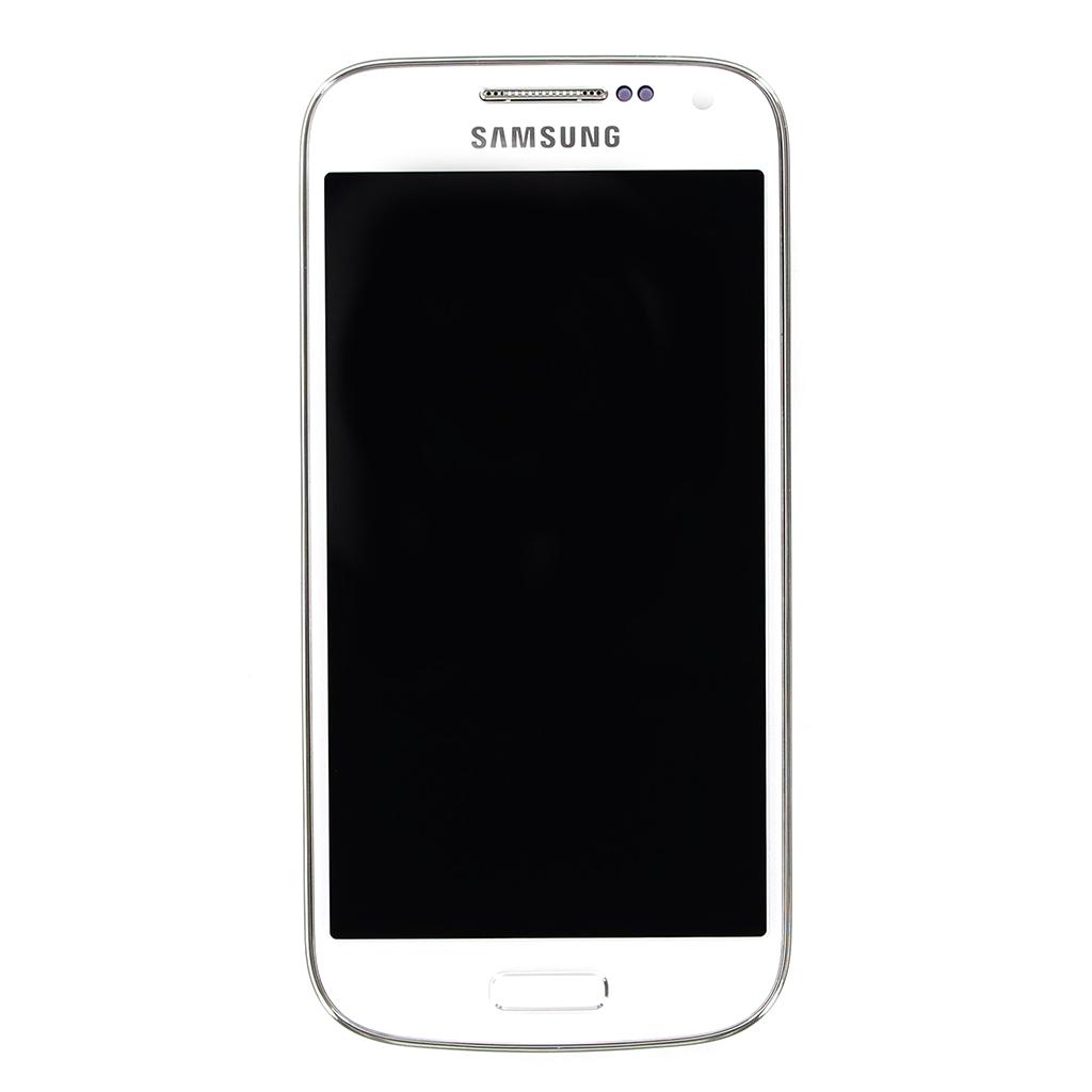 LCD display + Dotyková deska + Přední kryt White pro Samsung i9195i Galaxy S4 mini VE - originál