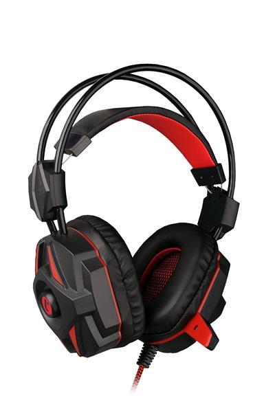 Herní sluchátka C-TECH (GHS-04R) černo-červená