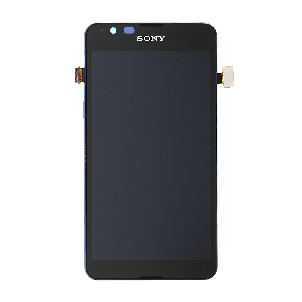 LCD Display + Dotyková Deska + Kompletní Kryt černý Sony Xperia E4g